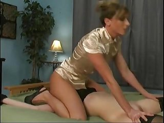 Marie McCray forced to lick her lesbian mistresses pussyP1