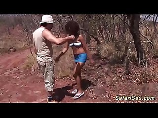 horny african babe fucked