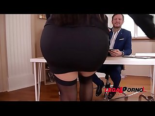Busty secretary Kesha Ortega gets her Latina tits & pussy fucked at office GP806