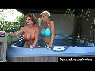 Busty Cougars Deauxma & Brook Tyler Eat Pussy On Cam!
