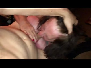 Chubby Mature BBW Gmilf sucks young cock