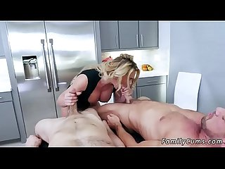 Mom after shower Army Boy Meets Busty Stepmom