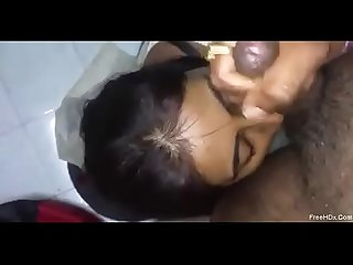 DESI GIRL LICKING BALLS BJ N CUM