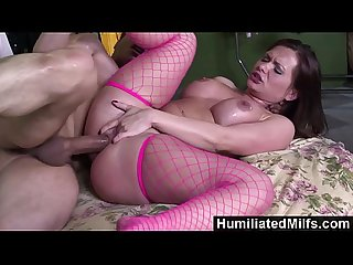 HumiliatedMilfs - She loves to spread her pussy as she gets ass fucked