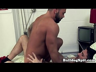 Muscle bear barebacked and jizzed by big cock