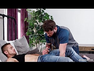Bearded gay man loves big dick anal sex