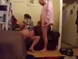 swinging Bbw wife in DP threesome