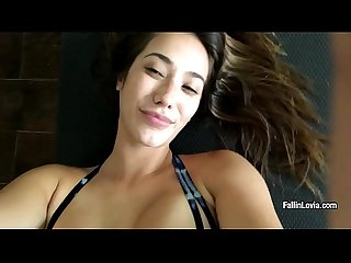 Eva Lovia loves sport and masturbation