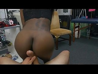 Black Lexxi Deep Sucking And Riding Dick In Pawn Shop