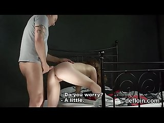 Kissable cutie spreads soft cunt and gets devirginized