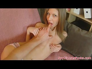 Petite euro babe on spycam gets fucked