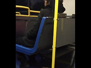 Public Wanker Jerks his Cock for Indian Milf on Public Bus pt 2