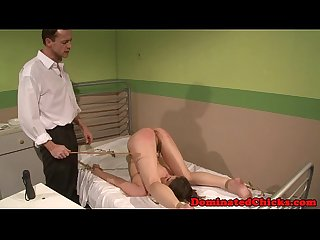 Submissive patient loves doctors punishment