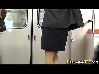 Filmed asians urinate