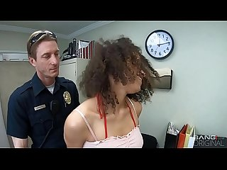 Screw the Cops - Arrested Ebony Teen Gets Fucked As Punishment