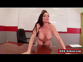 Big boobs fucked at school by teacher 15