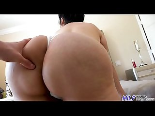 Jaylene strips out of her dressing showing her huge boobs and big plump ass