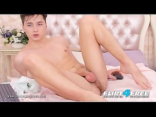 Fergus T - Flirt4Free - Cute European Boy Next Door Twink Spreads His Tight Ass