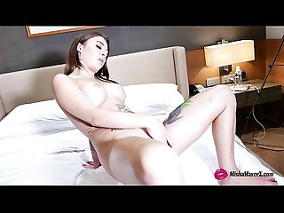 Tatto Girl Misha Maver Play Pussy with Vibrator