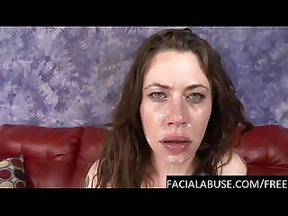 Angry Female Domme throat abused