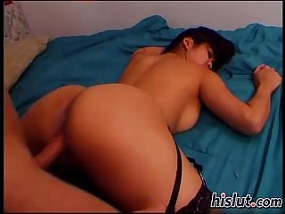 Hairy pussy gets fingered and rammed
