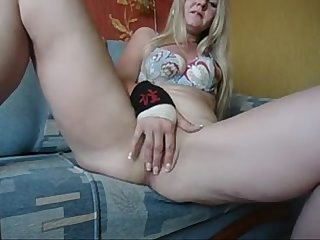 Blonde Mom Plays with Her Pussy - Join Free at MOISTCAMGIRLS.COM