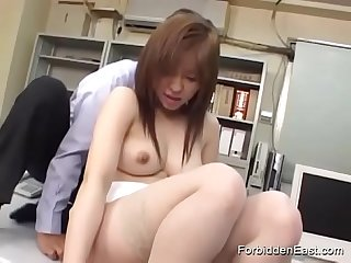 Japanese Office Threesome With Submissive Asian Teen In Uniform