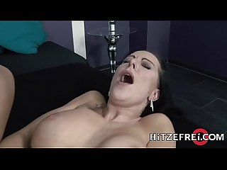 HITZEFREI Two German MILFs have fun with sex toys