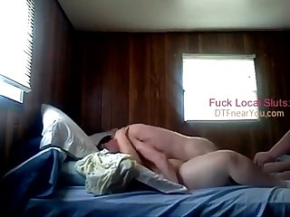 Cuckold watches loud fat wife get fucked