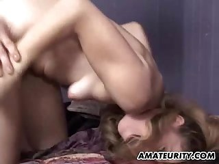 Amateur girlfriend threesome with facial cumshots