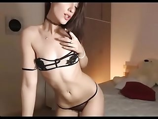 Sexy young girl live strip show with great ass