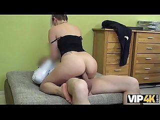 VIP4K. Extravagant bitch uses her sexuality to develop her business