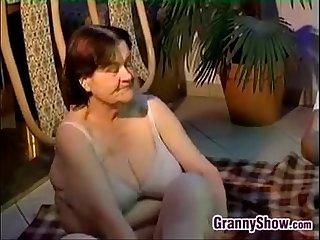 Bbw big tits granny homemade sex
