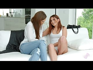 Evalina Darling and sexy Tina Kay enjoying eachother on Sapphic Erotica