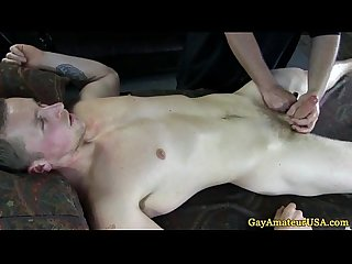 Straight guy naked at massage parlour