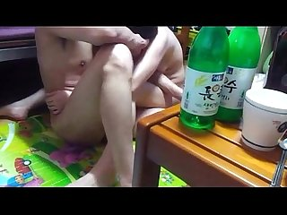 hot Korean girlfriend room fuck